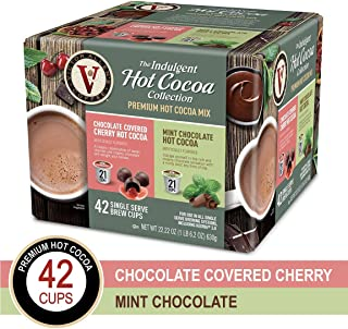Hot Cocoa Variety Pack with Chocolate Covered Cherry & Mint Chocolate for K-Cup Keurig 2.0 Brewers, 42 Count, Victor Allen's Coffee Single Serve Coffee Pods