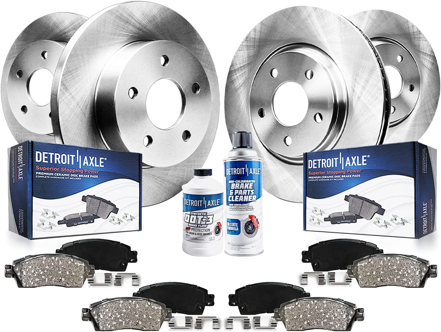 Detroit Axle - 67% OFF of fixed price Al sold out. Front Rear Replacement Rotors + Brake P Ceramic