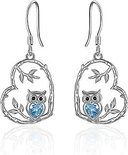 Nature Jewelry Rhinestone Bird Earrings Sparkly Jewelry