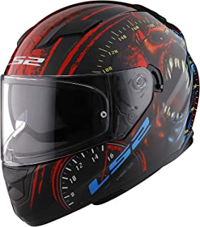 LS2 Helmets - FF320 Stream Evo - Speed Demon - Gloss Red Blue - Dual Visor Full Face Helmet - (XX-Large - 600 MM)