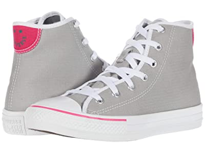 Converse Kids Chuck Taylor(r) All Star(r) Ripstop Hi (Little Kid/Big Kid) (Dolphin/White/Cerise Pink) Girl