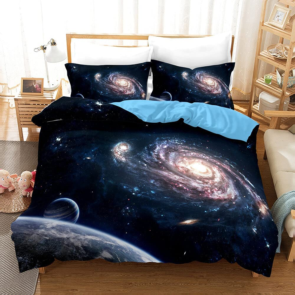 Galaxy Duvet Cover NEW before 4 years warranty selling Twin 3D Print Kids Comforter w Universe