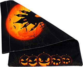 Tomaibaby Halloween Party Garden Flags Decorative Pumpkin Flag Burlap House Flags for Outdoor Home Lawn Yard Decorations