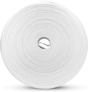 "Single Fold Bias Tape – Bias Binding 0.5"" Diameter 55 Yards Long – White or Black Industrial Bias Tape – Bias Tape for Quilting, Sewing, Hemming, Seams and More –Pre-Folded Binding Tape Sewing (White)"