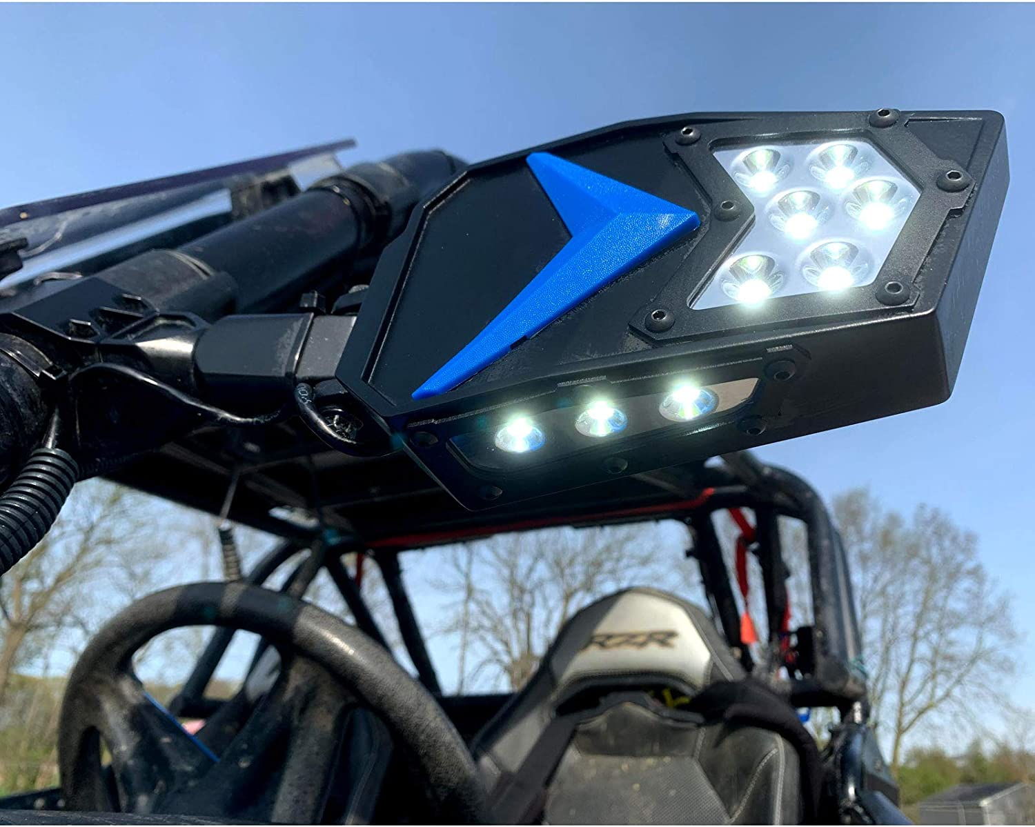 MCSADVENTURES Led Rock Light UTV Max 66% OFF Side With Mirrors An Switch Set store