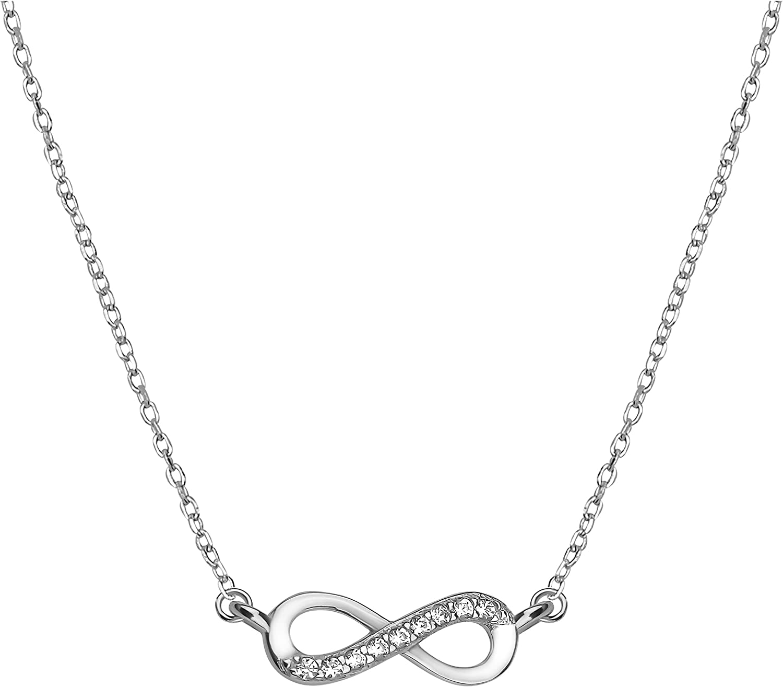 SOFIA MILANI - Collar para Mujeres en Plata de Ley 925 - con Circonitas - Colgante de Infinito - 50166