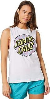 Santa Cruz Women's Sc Repeat Muscle Crew Neck Cotton White