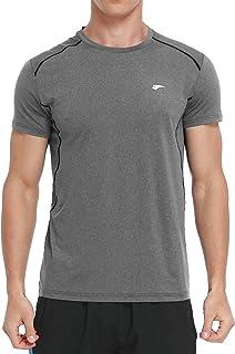 EZRUN Men's Dry Fit Short Sleeve T-Shirt Running Workout Athletic Shirts