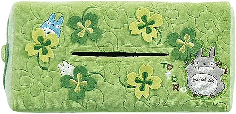 硬化するなしで不忠センコー となりのトトロ リトルクローバー ティッシュケースカバー グリーン 外寸:約25×12×5.5cm 41201
