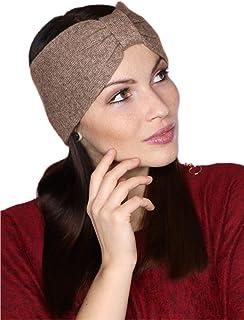 prettystern Fascia invernale da donna in cachemire lana cashmere Fascia per capelli Doppio Strato