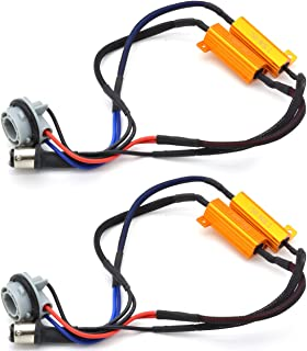 KATUR 2pcs 50W 8ohm 1157 BAY15D 7528 1196 1034 1016 Led Load Resistors - Fix LED Bulb Fast Hyper Flash for LED Turn Signal Light Blink or LED License Plate Lights Error