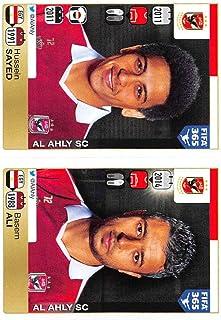2015-16 Panini FIFA 365 Stickers Soccer #288-289 Hussein Sayed/Basem Ali Trading Card Sized Album Sticker