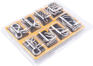 8 Pcs Metal Wire Puzzles Magic Trick Toy
