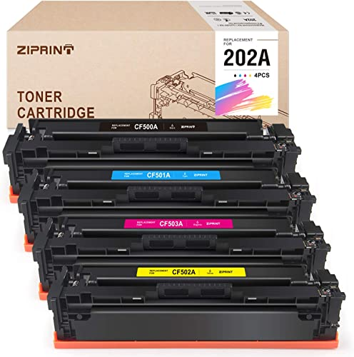 high quality Ziprint Compatible Toner Cartridge Replacement for HP 202A CF500A 202X CF500X to use with Laserjet Pro MFP M281fdw M254dw M281dw M254nw M280nw M281 outlet sale popular M254 Printer (4 Pack sale