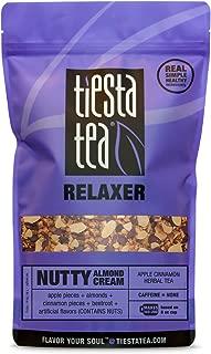 Tiesta Tea Nutty Almond Cream, Apple Cinnamon Herbal Tea, 200 Servings, 1 Pound Bag, Caffeine Free, Loose Leaf Herbal Tea Relaxer Blend, Non-GMO