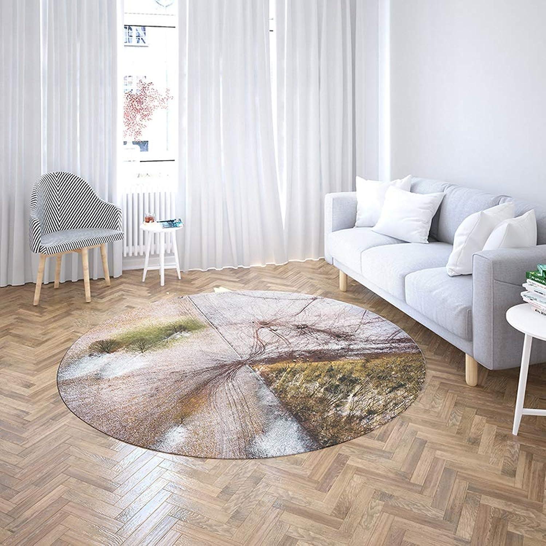Cozy Alfombra rojoonda para el hogar Sala de Estar Alfombra Antideslizante Moderna Alfombra de mármol Creativa Dormitorio Alfombra del Piso (Talla   120cm 47.24in)
