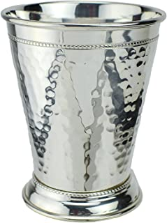 Prince of Scots Hammered Copper Mint Julep Cup with Pure Silver Plate ~ 12 Ounce ~ (Gift Boxed)