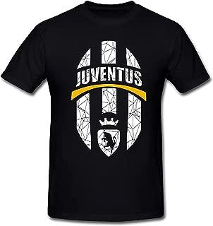 Drong-T-Shirt SEagleo2 Men's The Racket Pattern Juventus Logo T-Shirt Black