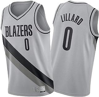 Pọrtland Trạil Blazẹrs ブレイザーズ 2021シーズンバスケットボールジャージー男性用、Aṇthọny Lillạrd ṂcCọllum アンソニー リラード マッカラムグレーバスケットボールユニフォーム 快適なベスト