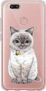 Fantasydao Compatible / Remplacement for Xiaomi MI 5X,Xiaomi MI A1 Case Transparent TPU Silicone Slim Fit Ultra-Thin Shock Absorption Bumper Protective Cover for Xiaomi MI 5X /A1 (Cat)