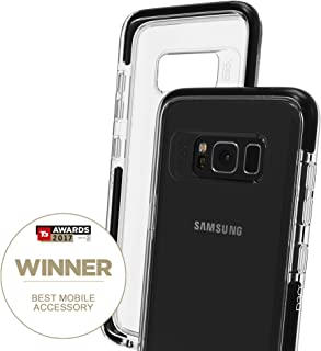 Gear4 Piccadilly Clear Case with Advanced Impact Protection [ Protected by D3O ], Slim, Tough Design for Samsung Galaxy S8 – Black