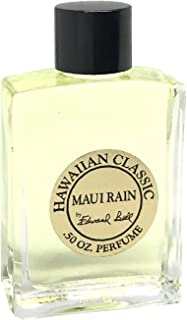 Hawaiian Maui Rain Perfume in Clear Glass Bottle 1/2 oz (0.5 oz) by Edward Bell