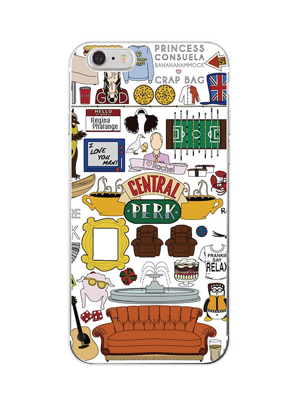 for iPhone 7Plus 7 6 6S 5S 8 8Plus X XS Max Samsung Friends TV Show Funny Central Perk Park Soft Phone Case Cover Coque Fundas,7,for Samsung S9 Plus
