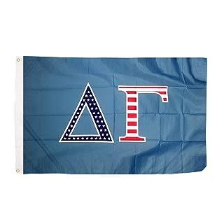 Delta Gamma USA Letter Sorority Flag Greek Letter Use as a Banner Large 3 x 5 Feet Sign Decor dg