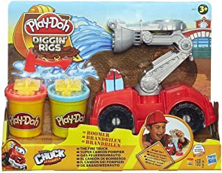 Play Doh Diggin Rigs Boomer The Fire Truck