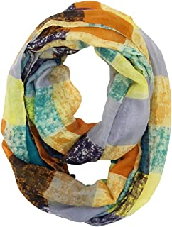 Wrapables Lightweight Infinity Scarf Multicolor Square