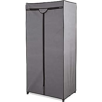 Store & Style - Ropero portátil con armazón metálico, 75 x 50 x 160 cm (gris): Amazon.es: Hogar