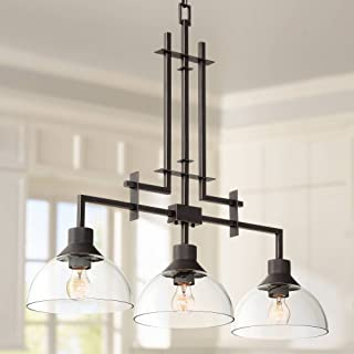 sperry bronze and scavo glass chandelier