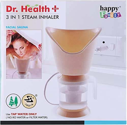 Dr Health 3 In 1 Steamer Steam inhaler for cold and cough Facial Steam Vaporizer Colour May Vary