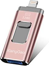 iOS Flash Drive for iPhone Photo Stick 128GB XiangGao Memory Stick USB 3.0 Flash DriveThumb Drive for iPhone iPad Android and Computers … (XD-128GB, Pink-1FLASH Drive)