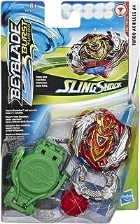 Hasbro Beyblade Burst Turbo – Starter Pack Toupie et Lanceur Slingshock – Turbo Achilles A4