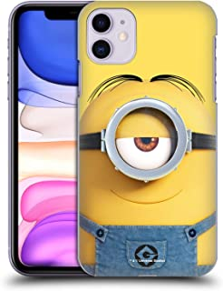 Official Despicable Me Stuart Full Face Minions Hard Back Case Compatible for iPhone 11
