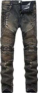 biker distressed jeans mens