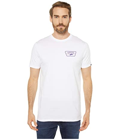 Vans Full Patch Back T-Shirt (White/Heliotrope) Men