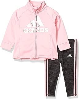 adidas Baby-Girls AG4410 Tricot JKT & Melange Tight Set Pants Set
