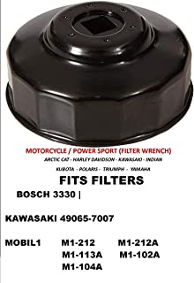APSG Oil Filter Wrench | Motorcycle/Powersports/car | Fit: Filters Bosch 3330 | Kawasaki 49065-7007 | Mobil 1 M1-212, M1-212A, M1-113A, M1-102A, M1-104A
