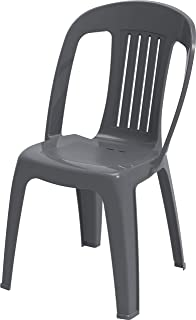 Cosmoplast IFOFXX004CG Contessa Chair for Indoors and Outdoors, Plastic, 2.2-kg, Cool Grey, W 46.0 x H 85.0 x D 54.0 cm