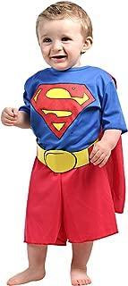 Super Homem Bebê Sulamericana Fantasias Vermelho/Azul M 2 Anos