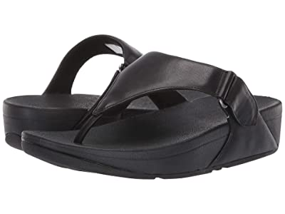 FitFlop Sarna Toe Thong Sandal (All Black) Women
