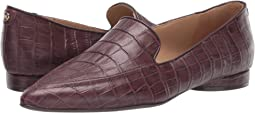 Bordo Crocco Print Leather