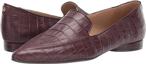 Bordo Crocco Print Leather