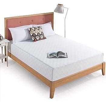 Zinus 10 Inch Gel-Infused Green Tea Memory Foam Mattress / Cooling Gel Foam / Pressure Relieving / CertiPUR-US Certified / Bed-in-a-Box, Queen