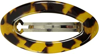 Caravan Open Center Oval Shape Handmade Barrette With A Slim Rim Your Hair Will Hold And Show