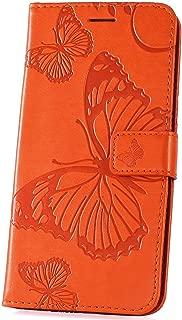 Naranja con Dise/ños de Henna Tarjetero ID Peters London Cartera Compacta de Cuero Vegano Mini Billetera para Tarjetas Bancarias y de Negocios Disponible con Atractivos Estampados