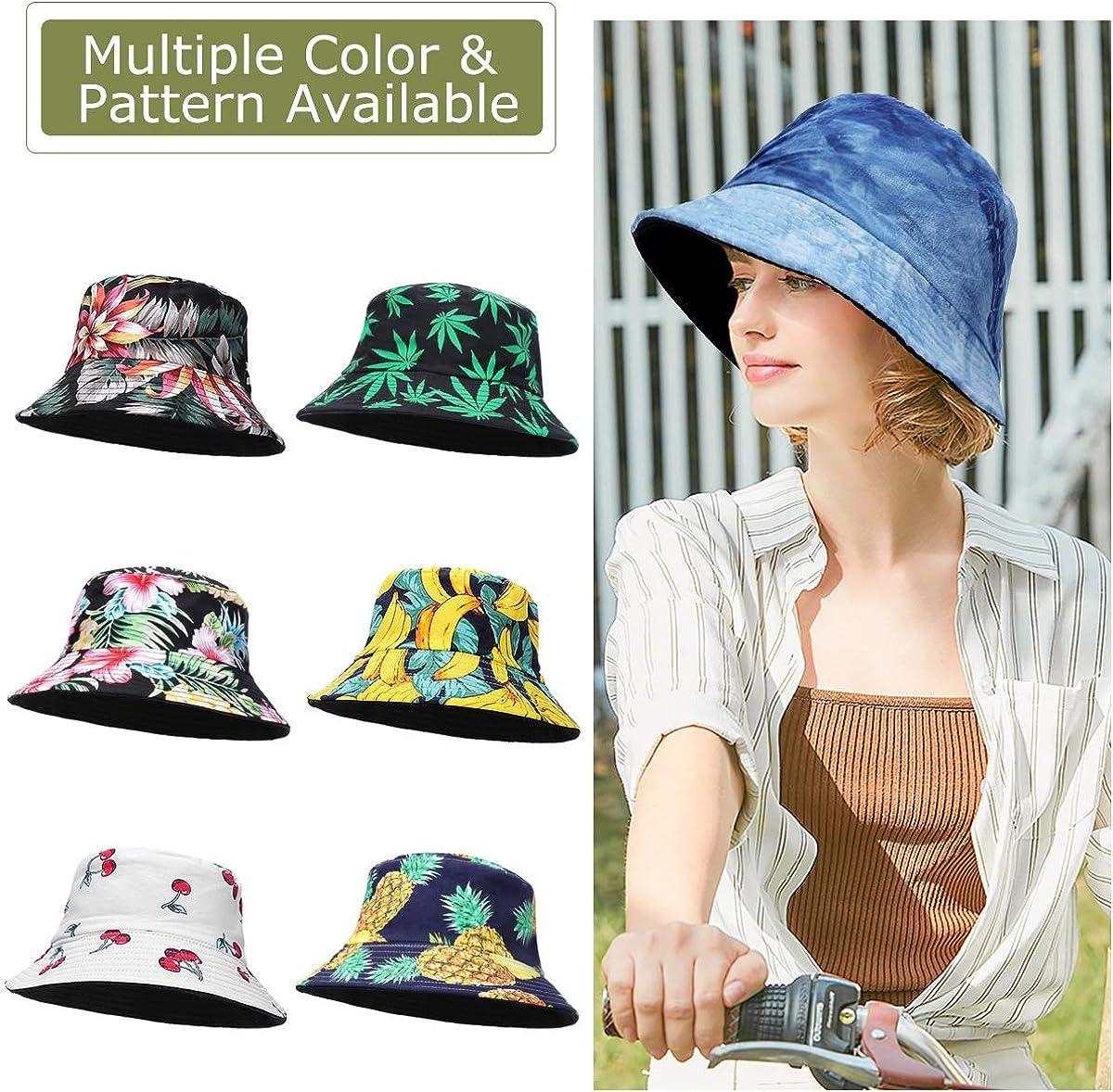 ECOMBOS Fishermans Hat Womens Colourful Unisex Sun Hat Bucket Hat Fishing Hat Pattern Fruit Outdoor Summer Hat