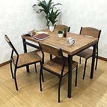 組立式 Luceルーチェダイニング5点セットブラウン テーブル&チェア(5点セット) 4人掛け 幅:110cm